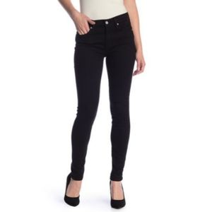7 for All Mankind Black the Skinny Jeans